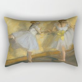"Edgar Degas ""Dancers Practicing at the Barre"" Rectangular Pillow"