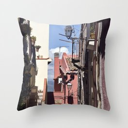 Sicilian Mountainvillage - Forza d'Agro Throw Pillow