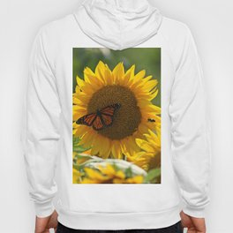 The butterfly the bee and the sunflower Hoody