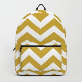 Metallic gold - brown color - Zigzag Chevron Pattern Backpack