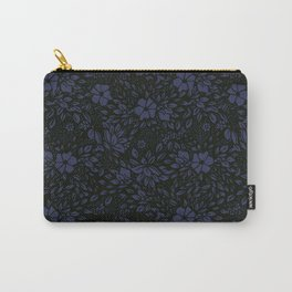 Abstract - kind of damasc french style wrapping paper - Deep Blue and blak Carry-All Pouch
