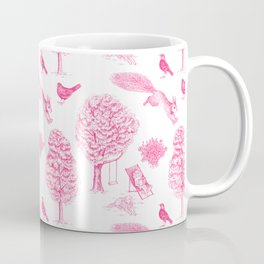 A Girl Reading in the Garden (White and Pink) Coffee Mug
