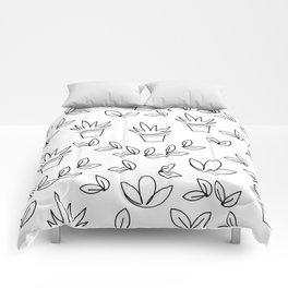 Hand-drawn flower pots Comforters
