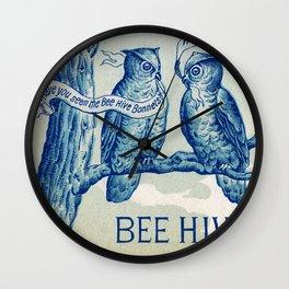 Vintage owl talk Wall Clock