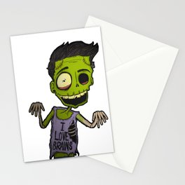 He loves brains Stationery Cards