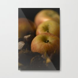 Apples and chestnuts Metal Print