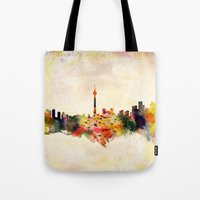 toronto Tote Bags featuring  Toronto  by mark ashkenazi
