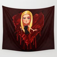 buffy Wall Tapestries featuring Buffy the Heart Slayer by Isaiah K. Stephens