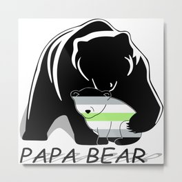 Papa Bear Agender Metal Print