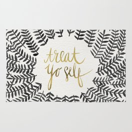 Treat Yo Self – Black & Gold Rug