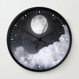 Touch of the moon II Wall Clock