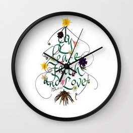 Christmas shop Wall Clock