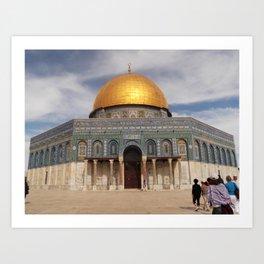 Dome of the Rock, Temple Mount, Jerusalem Art Print