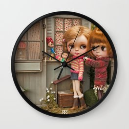 Erregiro Blythe Custom Doll Play Garden Wall Clock
