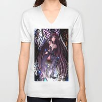 madoka magica V-neck T-shirts featuring Homura Akemi - Madoka Magica Rebellion by SauceBox16