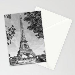 PARIS Eiffel Tower & River Seine   Monochrome Stationery Cards