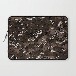 Coffee Brown Popular Multi Camo Pattern Laptop Sleeve