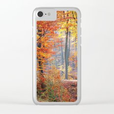 Colorful Autumn Fall Forest Clear iPhone Case