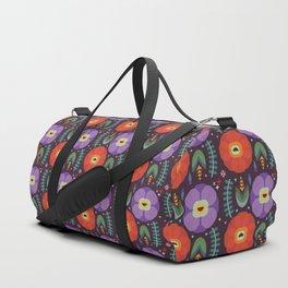 Flowerfully Folk Duffle Bag