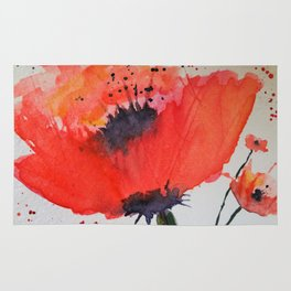 Waltz of the Poppies Rug