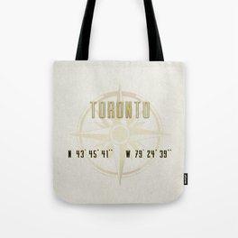 Toronto - Vintage Map and Location Tote Bag