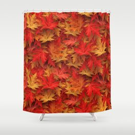 Autumn Case Fall Leaves Shower Curtain