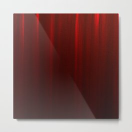 Behind the Red Curtain Metal Print