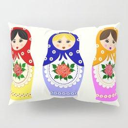 Russian matryoshka nesting dolls Pillow Sham