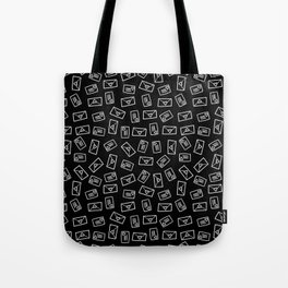 White Doodled Love Letters Tote Bag