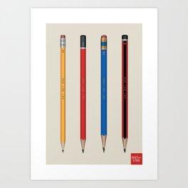 Art not War - Pencils Art Print