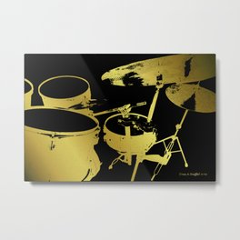 Golden Drums Metal Print