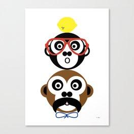 Familjen maskerad Canvas Print