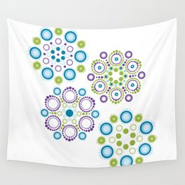 Mandala lotus flowers Wall Tapestry