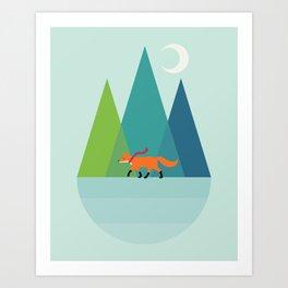 Walk Alone Art Print