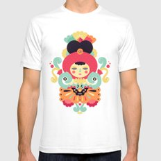 Keiko White Mens Fitted Tee SMALL