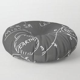 Apollo Moon landing Chalkboard. Floor Pillow