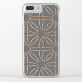 Modern Moroccan Gold criss cross Clear iPhone Case