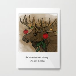 Not A Creature Was Stirring Metal Print