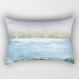 Cayuga Lake Regatta Rectangular Pillow