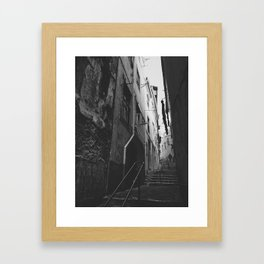 A narrow path Framed Art Print
