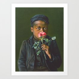 African Americn Rose Portrait ,1895 Art Print