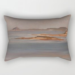 Frederic Leighton - Bamburgh Castle, Northumberland Rectangular Pillow