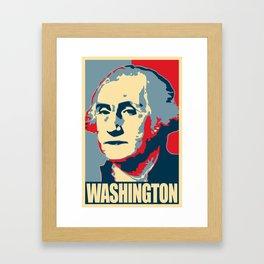 George Washington Propaganda Pop Art Framed Art Print