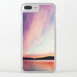 big sky Clear iPhone Case