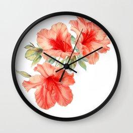 Azalea Painting Wall Clock