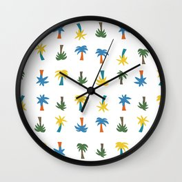 Retro Palms Wall Clock