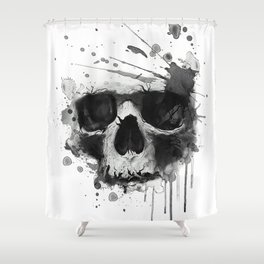 Skull illustration. Shower Curtain