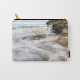 Elliot Falls on Miners Beach - Pictured Rocks, Michigan Carry-All Pouch