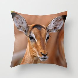Impala - Africa wildlife Throw Pillow