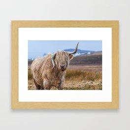 Moo? Framed Art Print